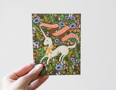 Carte - Licorne rifle paper co - maison mathuvu