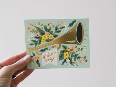 Carte - Welcome baby rifle paper co - maison mathuvu