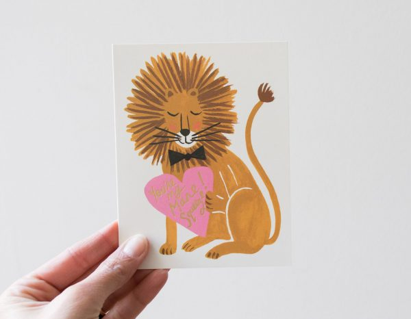 Carte - Lion rifle paper co - maison mathuvu