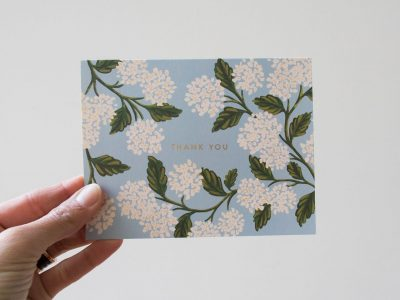 Carte fleurs - Thank you rifle paper co - Maison mathuvu