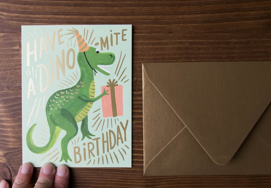 Carte - Dinosaure Rifle paper co - Maison mathuvu