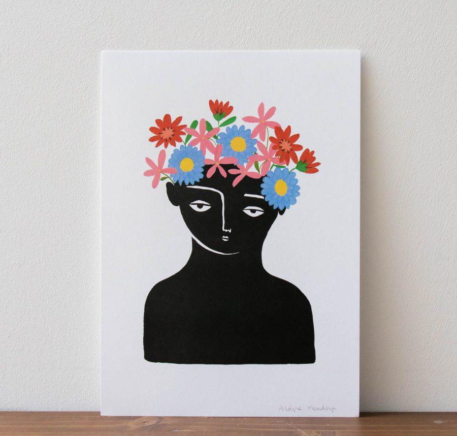 Affiche - La Couronnée d'automne Aloyse Mendoza - Maison Mathuvu