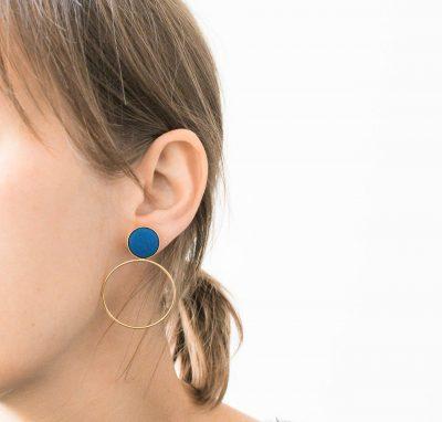 Boucles d'oreilles Céleste - Petit modèle Barbarisme - maison mathuvu