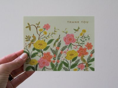 Carte Thank you - Vert d'eau Rifle paper co - maison mathuvu