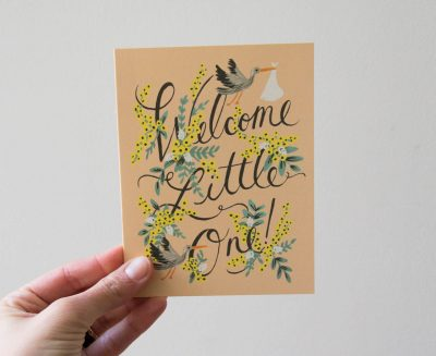 Carte - Welcome little one rifle paper co - maison mathuvu