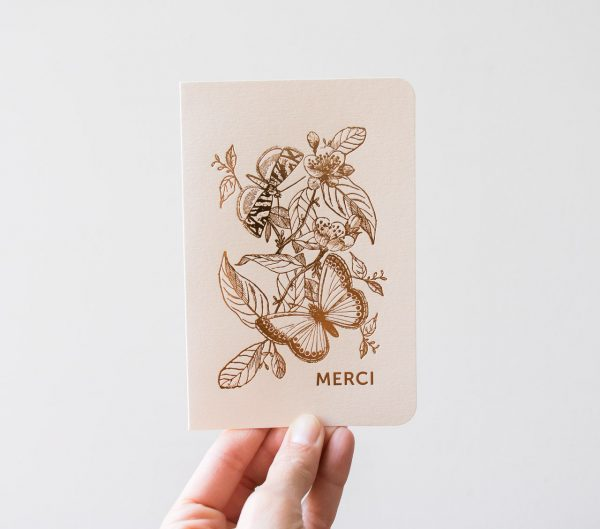 Carte papillon - Merci des éditions du paon - maison mathuvu
