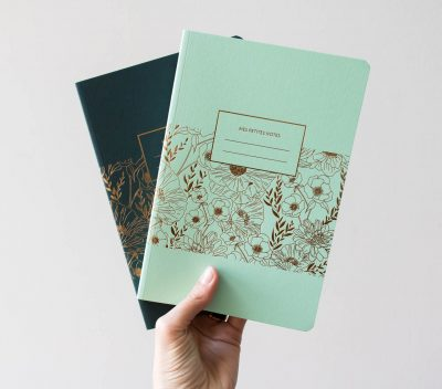 Grand carnet - Menthe et Vert sapin les éditions du paon - Maison mathuvu