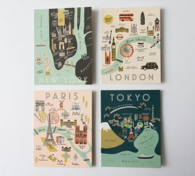 Carte - Grandes villes Rifle paper co - maison mathuvu