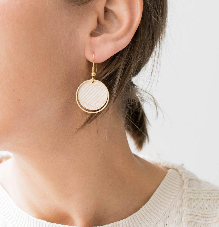 Boucles d'oreilles - Lili cercle doré Maison mathuvu