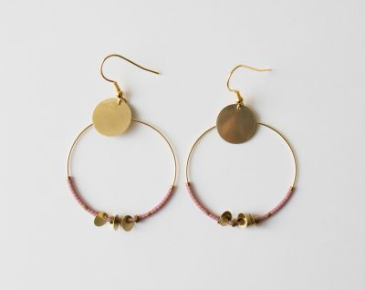 Boucles d'oreilles Himiko - Rose et Bleu Maison mathuvu