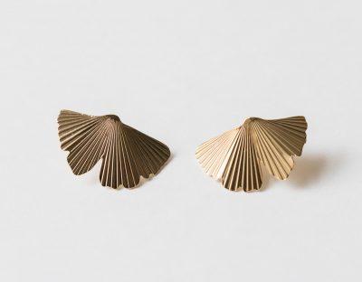 Boucles d'oreilles - Ginkgo Exquises indécises - maison mathûvû