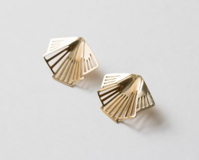 Boucles d'oreilles plissées - Art Déco Exquises indécises - Maison Mathuvu