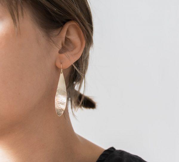 Boucles d'oreilles NYC Exquises indécises - Maison Mathuvu