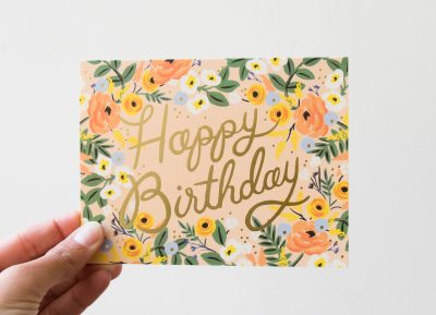 Carte - Couronne de fleurs rifle paper co - maison mathuvu