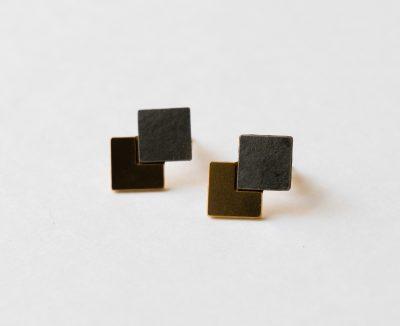 Boucles d'oreilles - Prisma gris Shlomit ofir - maison mathuvu