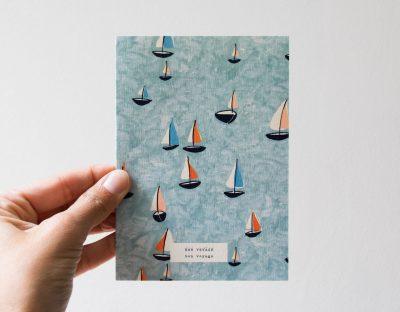 Carte - Voiliers season paper - maison mathuvu