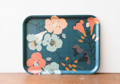 Plateau - Fleurs bleues Mr & Mrs Clynk - maison mathuvu