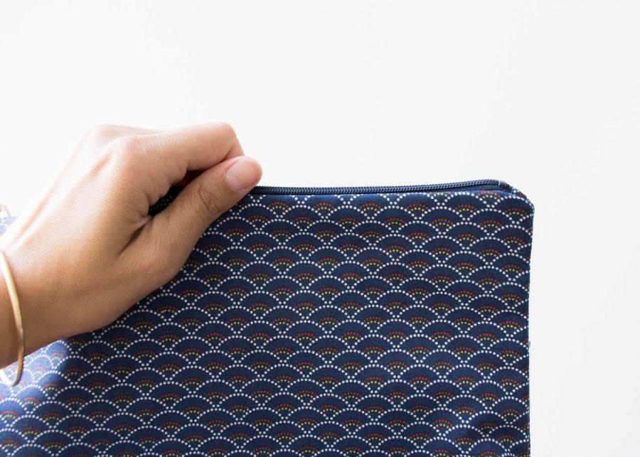 Trousse de toilette - Éventail bleu Maison mathuvu