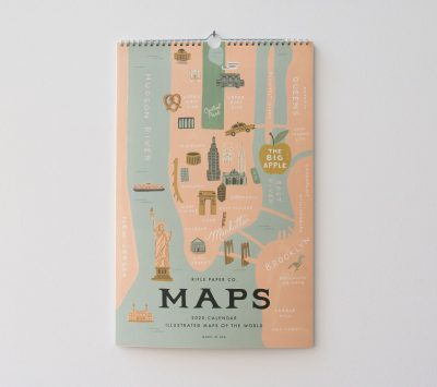 Calendrier 2020 - City maps Rifle paper co - maison mathuvu