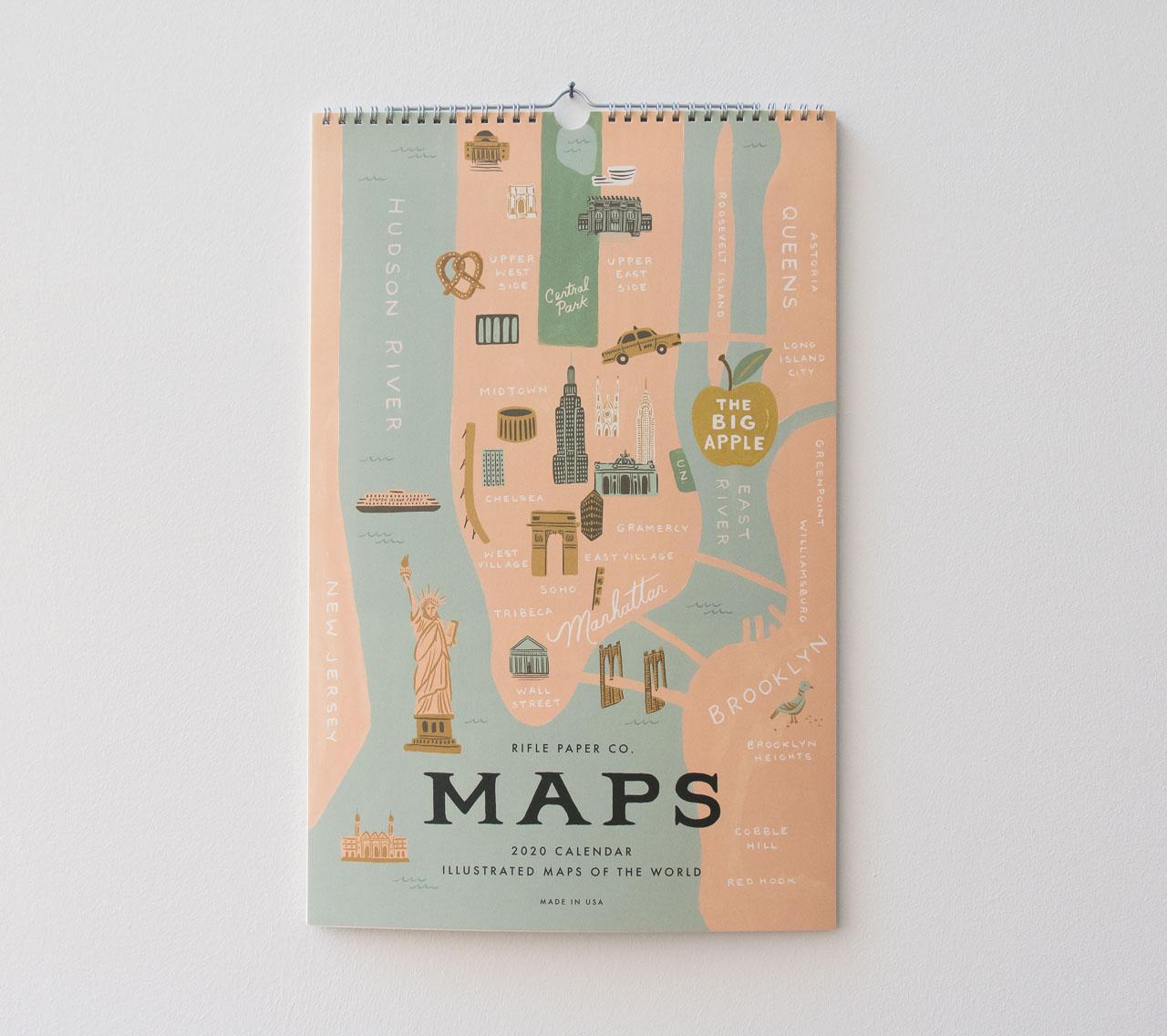 Calendrier City.Calendrier 2020 City Maps De Rifle Paper Co Chez Maison Mathuvu