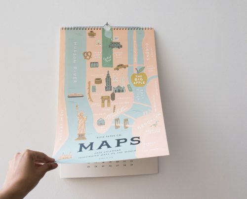 Calendrier 2020 - City maps Rifle paper co - maison mathuvu