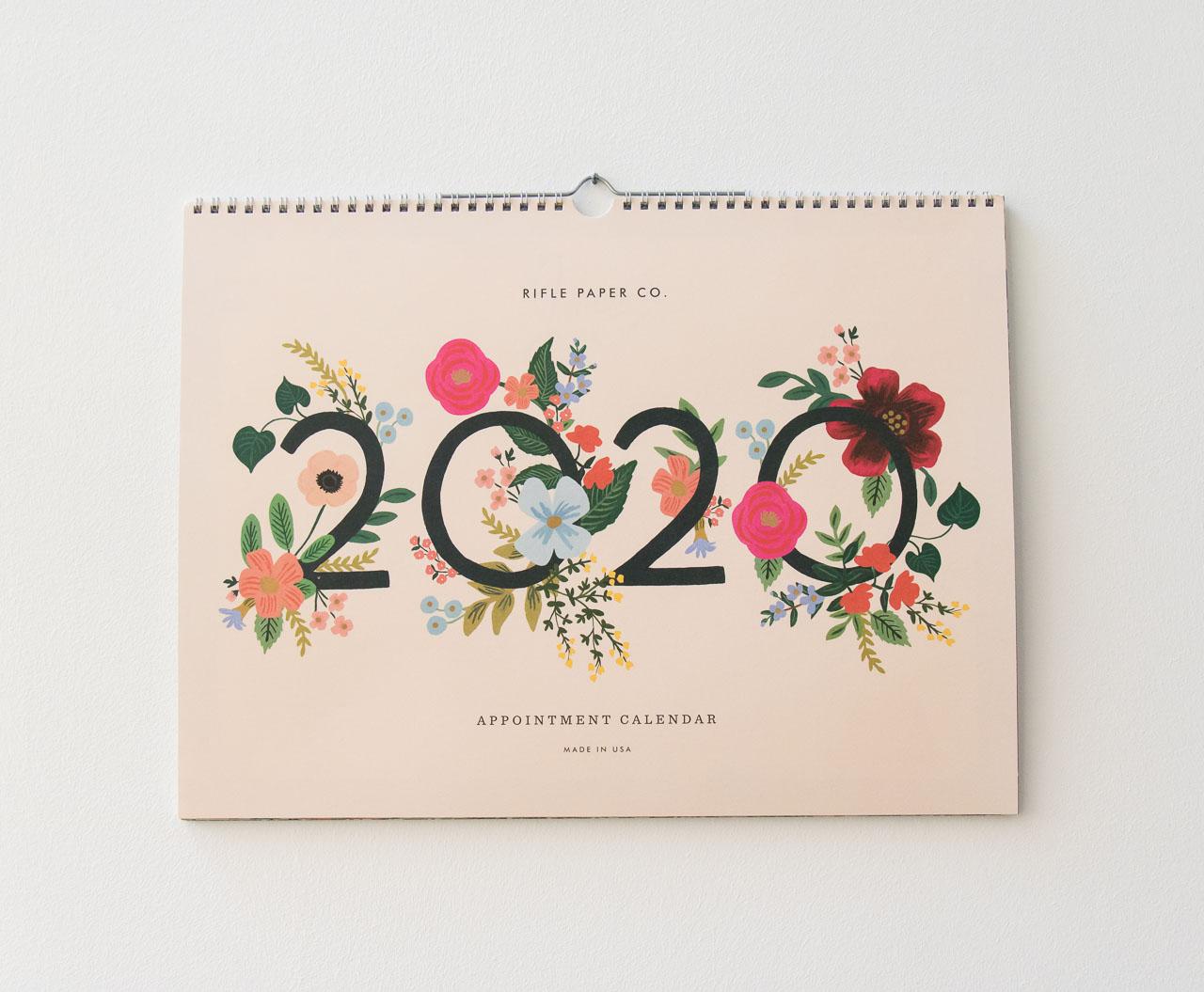 Achat Calendrier 2020.Calendrier 2020 Garden Bloom De Rifle Paper Co Chez Maison
