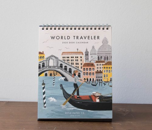 Calendrier 2020 - World traveler rifle paper co - maison mathuvu