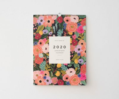 Calendrier 2020 - Wild rose rifle paper co - maison mathuvu