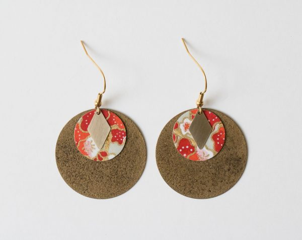 Boucles d'oreilles Lili - Cercle et losange Maison Mathuvu