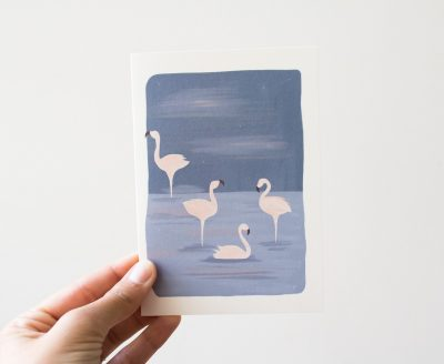 Carte - Flamands rose Atelier Bobbie - maison mathuvu
