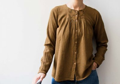 Blouse vichy - Curry Emile et Ida - maison mathuvu