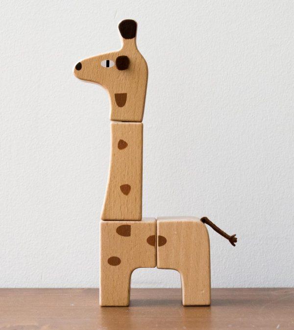 Puzzle en bois - Girafe Bloomingville - maison mathuvu