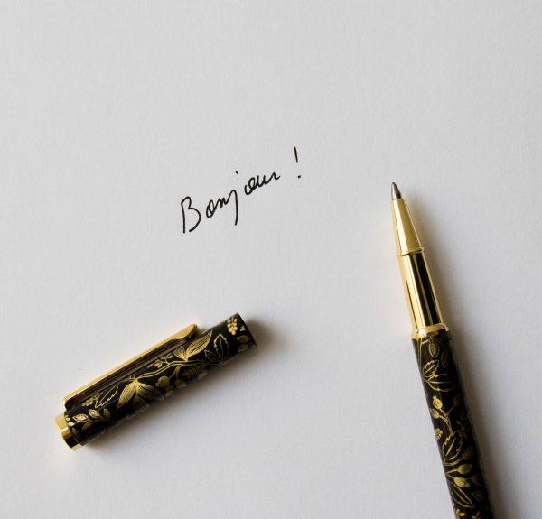 Stylo - Botanic noir et doré Rifle paper co - maison mathuvu