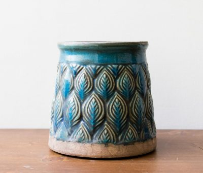 Cache-pot - Plume bleu Bloomingville - maison mathuvu