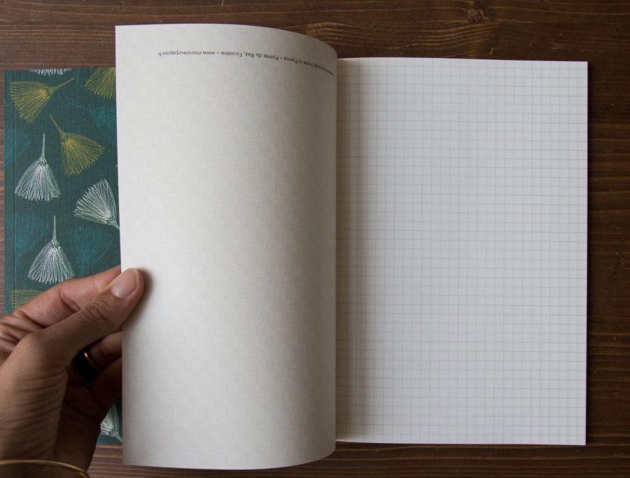 Carnet A5 - Quadrillé Monsieur papier - maison mathuvu