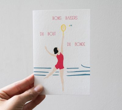 Carte - Bons baisers Monsieur papier - Maison mathuvu