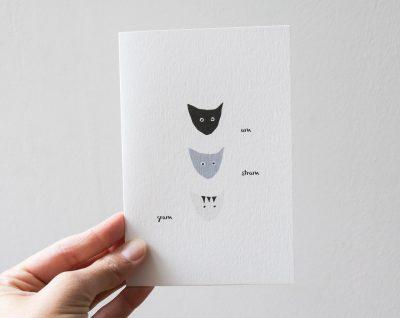 Carte - Amstramgram Monsieur papier - maison mathuvu