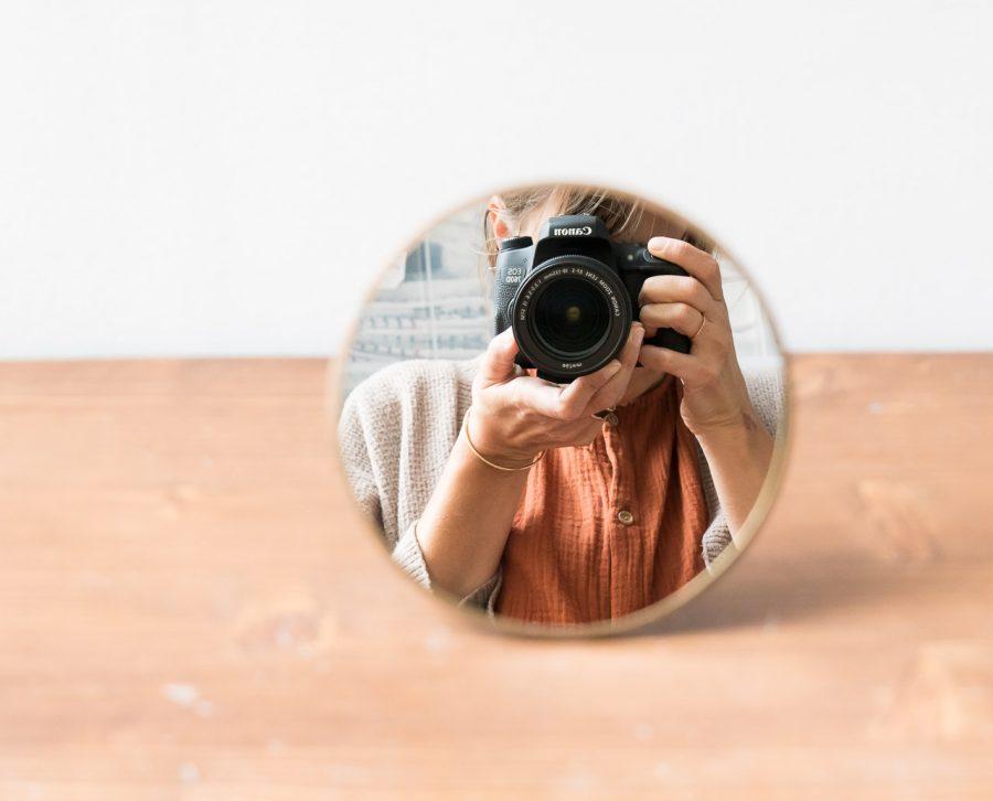 Miroir à poser - Kiko Nkuku - maison mathuvu