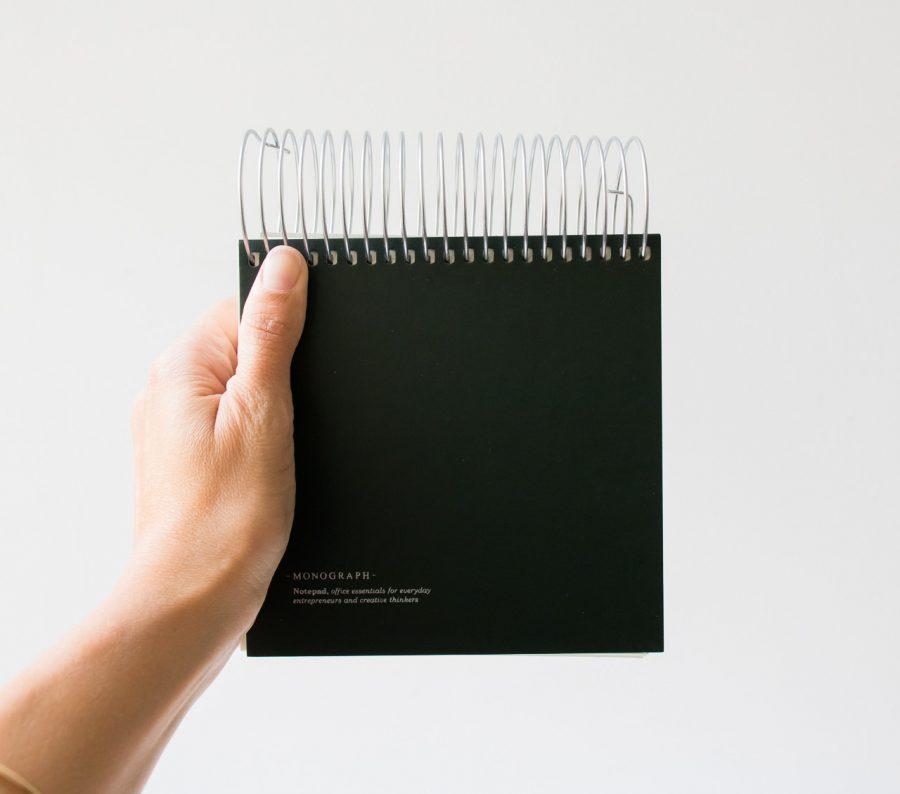 Bloc-notes spirales - Vert Monograph - maison mathuvu
