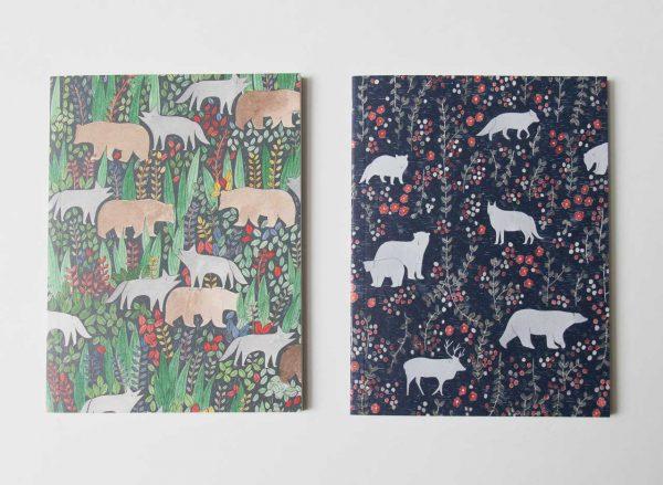 Set de 2 carnets - Taïga et Toundra Petit gramme - maison mathuvu