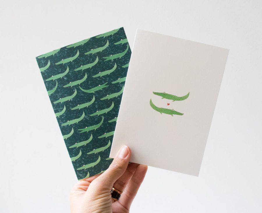 Carte - Crocodiles Petit gramme - maison mathuvu