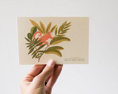 Bloc de cartes - Animaux Season paper - maison mathuvu