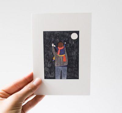 Carte - Pleine lune Petit gramme - maison mathuvu
