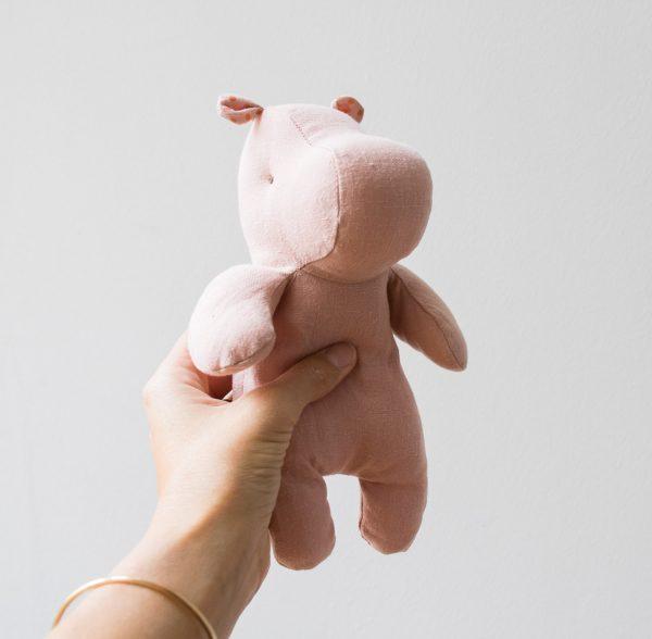 Peluche - Hippopotame rose Maileg - maison mathuvu