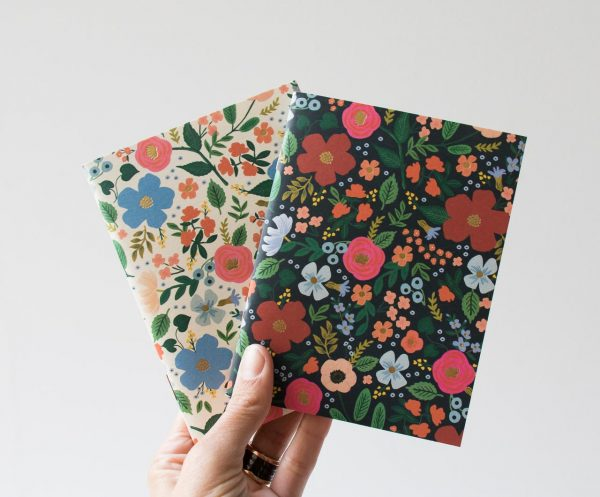 Lot de 2 carnets - Fleurs Rifle paper co - maison mathuvu