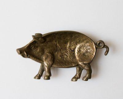 Vide-poche cochon en laiton chiné - maison mathuvu