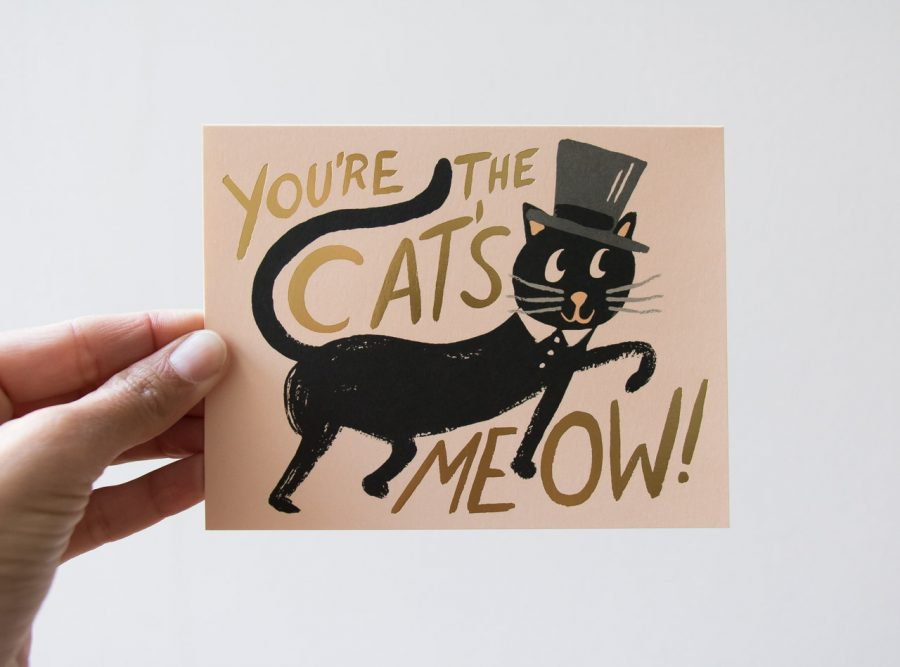 Carte - Chat noir Rifle paper co - maison mathuvu