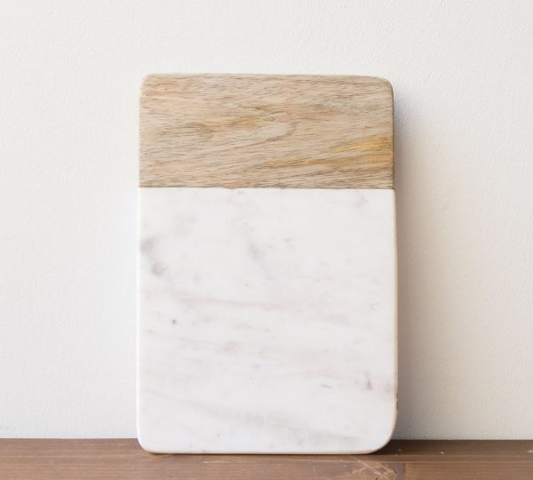 Planche marbre et bois - Bwari Nkuku - maison mathuvu