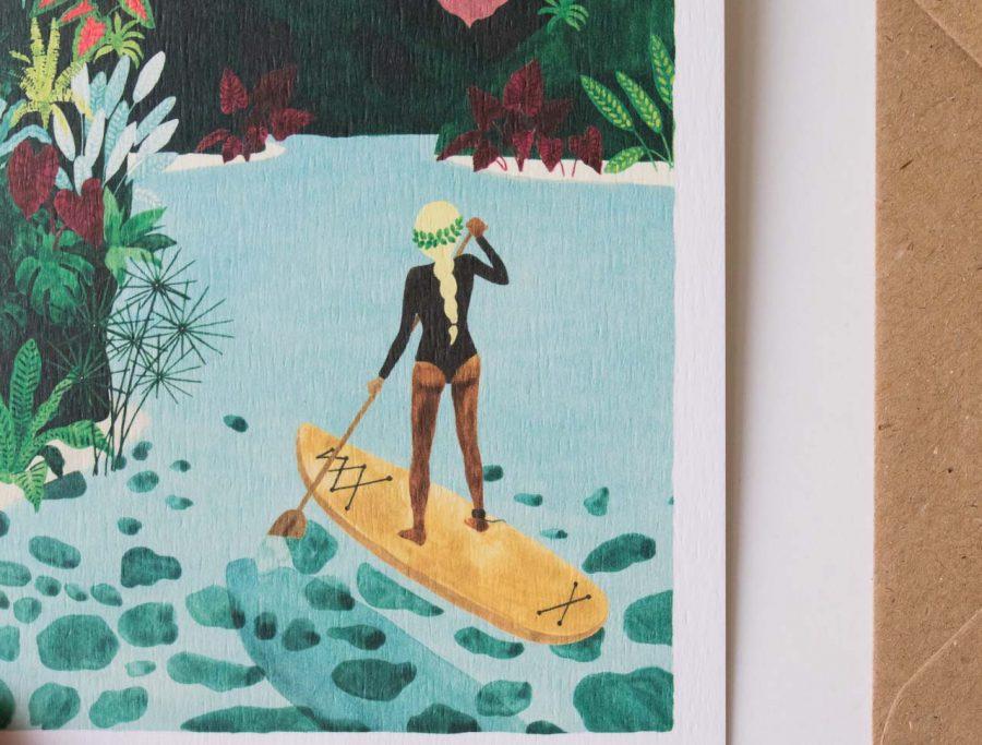 Carte - Paddle girl All the ways to say - maison mathuvu