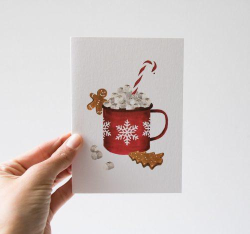 Carte - Chocolat chaud All the ways to say - maison mathuvu